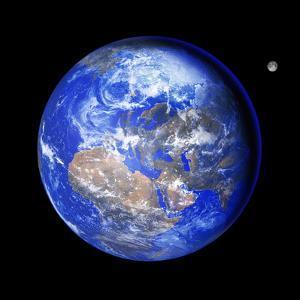 Earth And Moon by Detlev Van Ravenswaay