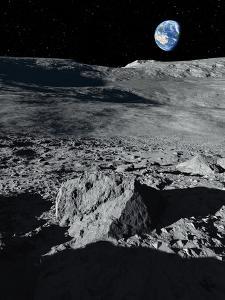 Earth From the Moon, Artwork by Detlev Van Ravenswaay