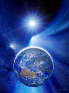 Earth In a Comet's Tail by Detlev Van Ravenswaay