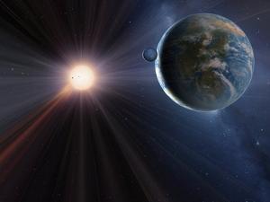 Extrasolar Planet Gliese 581c, Artwork by Detlev Van Ravenswaay