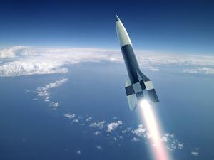 First V-2 Rocket Launch, Artwork by Detlev Van Ravenswaay