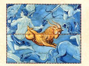Historical Art of the Constellation of Capricornus by Detlev Van Ravenswaay