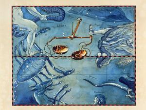 Historical Artwork of the Constellation of Libra by Detlev Van Ravenswaay