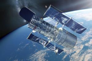 Hubble Space Telescope, Artwork by Detlev Van Ravenswaay