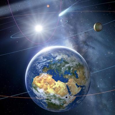 Inner Solar System, Artwork by Detlev Van Ravenswaay