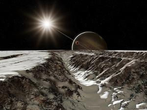 Jupiter From Europa by Detlev Van Ravenswaay