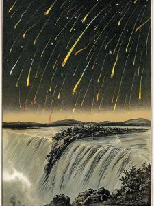 Leonid Meteor Shower of 1833, Artwork by Detlev Van Ravenswaay