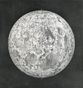 Lunar Map of 1854 by Detlev Van Ravenswaay