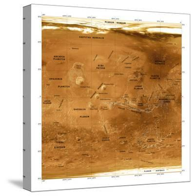 Mars Topographical Map, Satellite Image