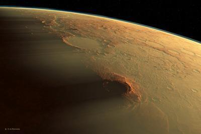 Martian Dust Storm by Detlev Van Ravenswaay