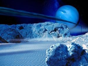 Neptune From Triton by Detlev Van Ravenswaay