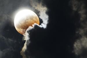 Partial Lunar Eclipse by Detlev Van Ravenswaay