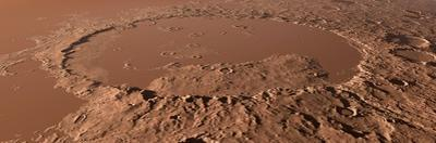 Prehistoric Schiaparelli Crater, Artwork by Detlev Van Ravenswaay