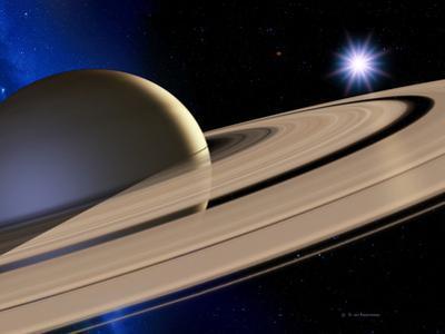 Saturn's Rings by Detlev Van Ravenswaay