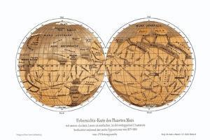 Schiaparelli's Map of Mars, 1877-1888 by Detlev Van Ravenswaay