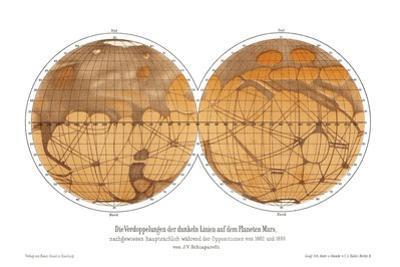 Schiaparelli's Map of Mars, 1882-1888 by Detlev Van Ravenswaay