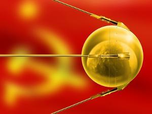 Sputnik 1, Artwork by Detlev Van Ravenswaay