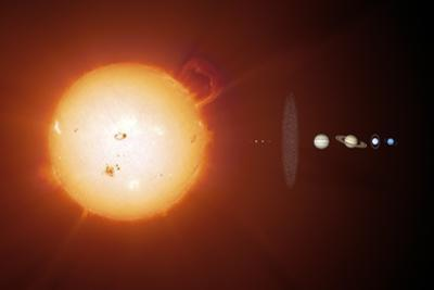 Sun And Planets, Size Comparison