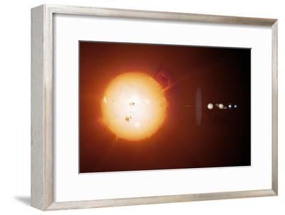 Sun And Planets, Size Comparison
