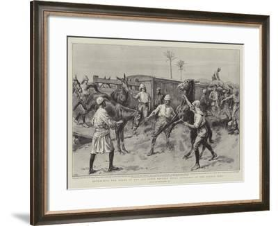 Detraining the Mules of the 32nd Field Battery Royal Artillery at the Atbara Camp-Frank Dadd-Framed Giclee Print