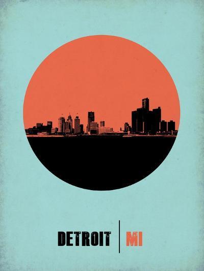 Detroit Circle Poster 2-NaxArt-Art Print