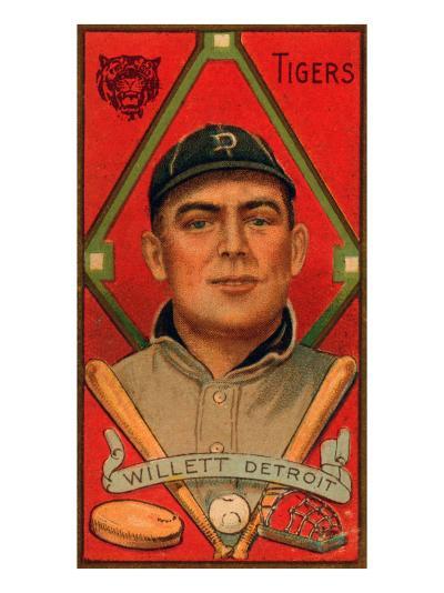 Detroit, MI, Detroit Tigers, Edgar Willett, Baseball Card-Lantern Press-Art Print