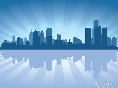 Detroit, Michigan Skyline-Yurkaimmortal-Art Print