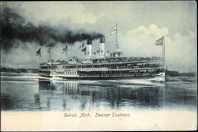 Detroit Michigan, Steamer Tashmoo, Raddampfer--Giclee Print