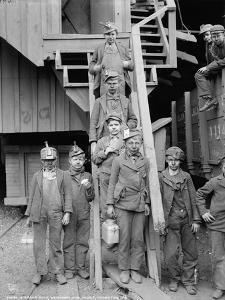 Breaker boys at Woodward Coal Mines, Pennsylvania, c.1900 by Detroit Publishing Co.