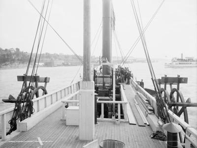 Steamer Clermont, deck, looking aft, 1909 by Detroit Publishing Co.