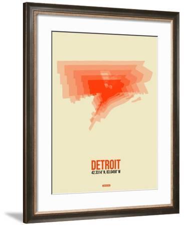 Detroit Radiant Map 2-NaxArt-Framed Art Print