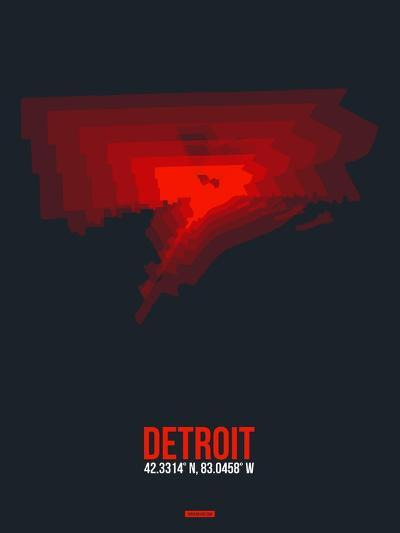 Detroit Radiant Map 3-NaxArt-Art Print