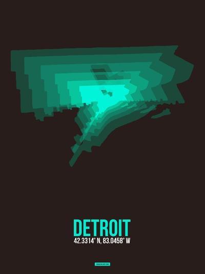 Detroit Radiant Map 4-NaxArt-Art Print