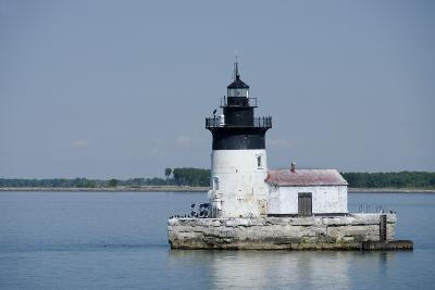 Detroit River Lighthouse, Wyandotte, Detroit River, Lake Erie, Michigan, USA-Cindy Miller Hopkins-Photographic Print