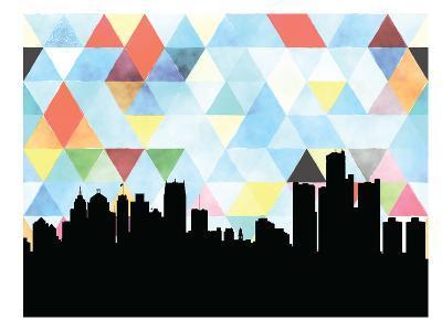 Detroit Triangle--Art Print