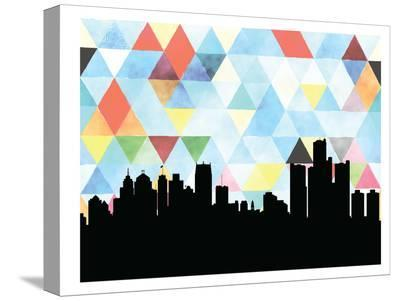 Detroit Triangle-Paperfinch 0-Stretched Canvas Print