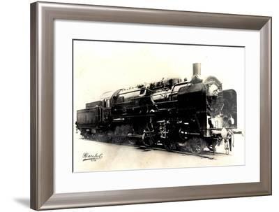 Deutsche Dampflok, 2 C 3,Fabrik No 20445,Machine 230--Framed Giclee Print