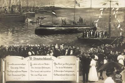 Deutsche U Boote, Empfang, Parade, Gedicht--Giclee Print