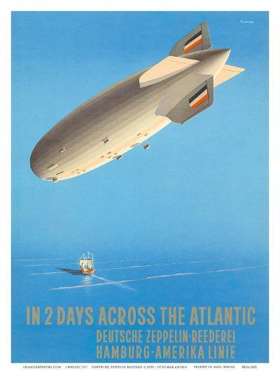Deutsche Zeppelin Reederei c.1935-Ottomar Anton-Art Print