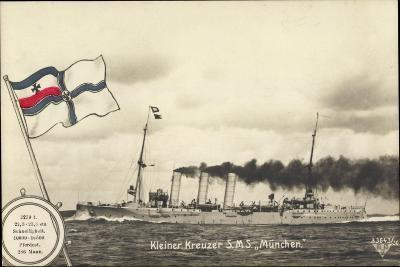 Deutsches Kriegsschiff, Kleiner Kreuzer S.M.S M?nchen--Giclee Print