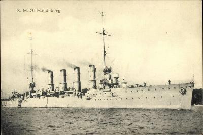 Deutsches Kriegsschiff, S.M.S. Magdeburg, 4 Schlote--Giclee Print
