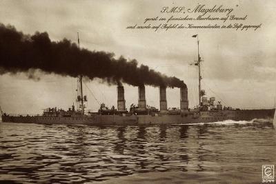Deutsches Kriegsschiff S.M.S. Magdeburg in Fahrt--Giclee Print