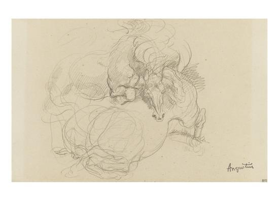 Deux chevaux luttant-Louis Anquetin-Giclee Print