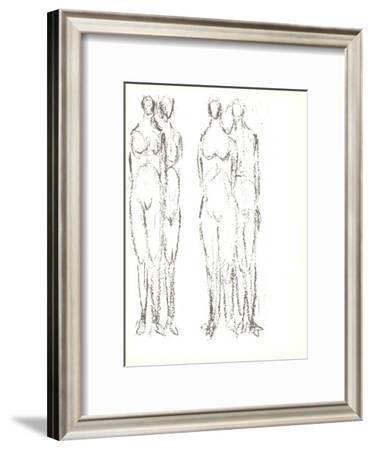Deux couples-Rodolphe Raoul Ubac-Framed Art Print