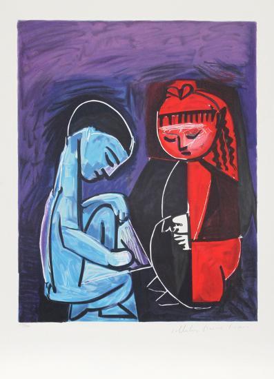 Deux Enfants Claude et Paloma, 19-A-Pablo Picasso-Premium Edition