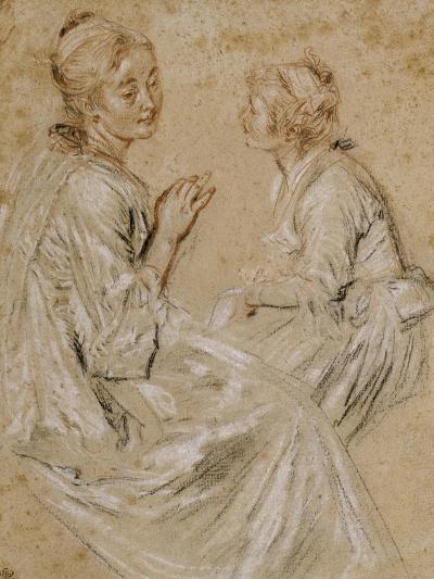 Deux études d'une femme assise-Jean Antoine Watteau-Giclee Print