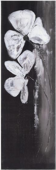 Deux Fleurs Fond Noir-Marielle Paccard-Art Print