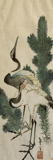 Deux hérons-Katsushika Hokusai-Giclee Print