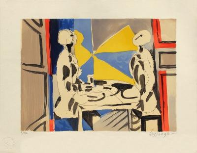 Deux personnages a table-Jacques Lagrange-Limited Edition