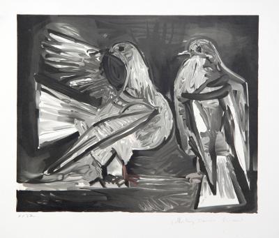 Deux Pigeons, 29-10-Pablo Picasso-Premium Edition